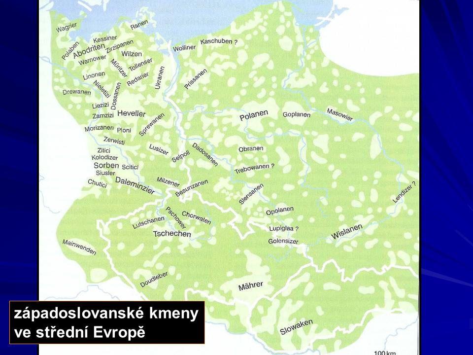 západoslovanské kmeny ve střední Evropě