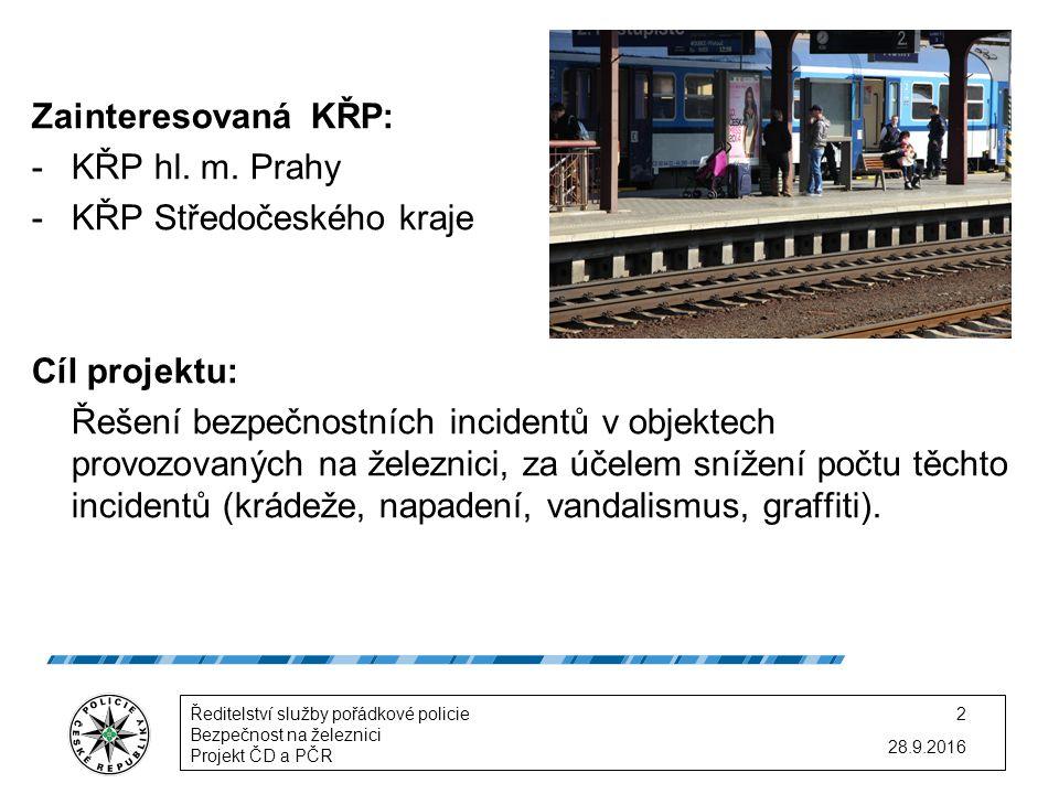 Zainteresovaná KŘP: -KŘP hl. m.