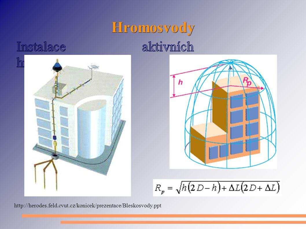 Hromosvody http://herodes.feld.cvut.cz/konicek/prezentace/Bleskosvody.ppt