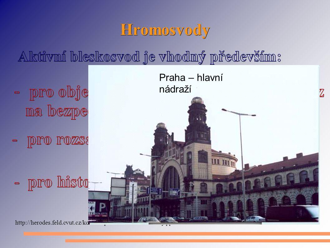 Hromosvody Praha – hlavní nádraží
