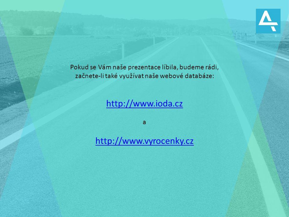 Pokud se Vám naše prezentace líbila, budeme rádi, začnete-li také využívat naše webové databáze: http://www.ioda.cz a http://www.vyrocenky.cz
