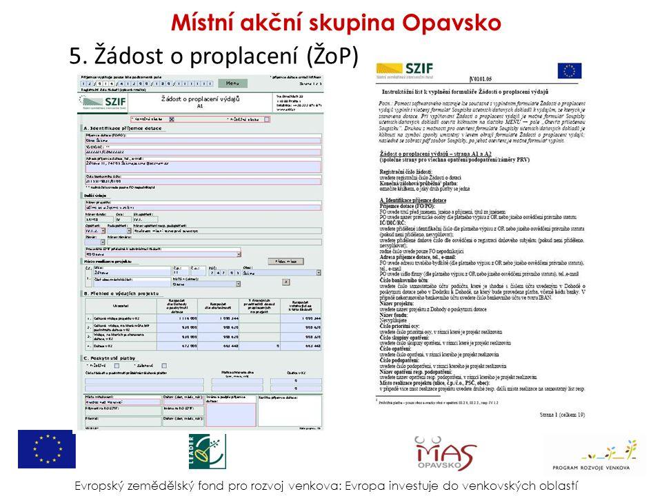 6.Dokumenty k Žádosti o proplacení (ŽoP) Dokumenty k ŽoP - všichni (uce/daň.