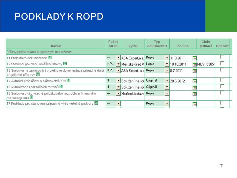 PODKLADY K ROPD 17