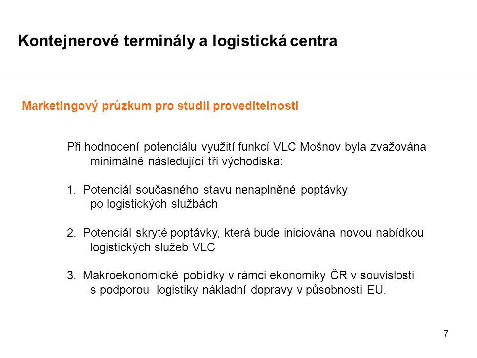 7 Při hodnocení potenciálu využití funkcí VLC Mošnov byla zvažována minimálně následující tři východiska: 1. Potenciál současného stavu nenaplněné pop