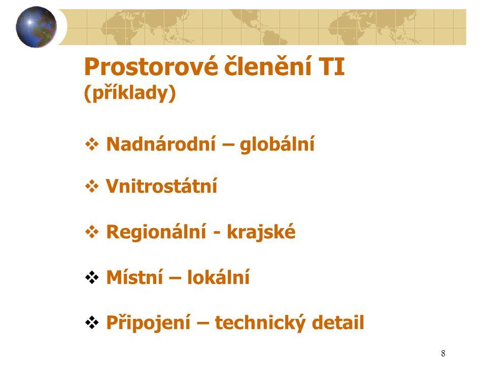 9 Manažerské (organizační) členění TI XX Zdroje - výrobci XXXDistribuce – distributoři XXXXSpotřebiště - spotřebitelé