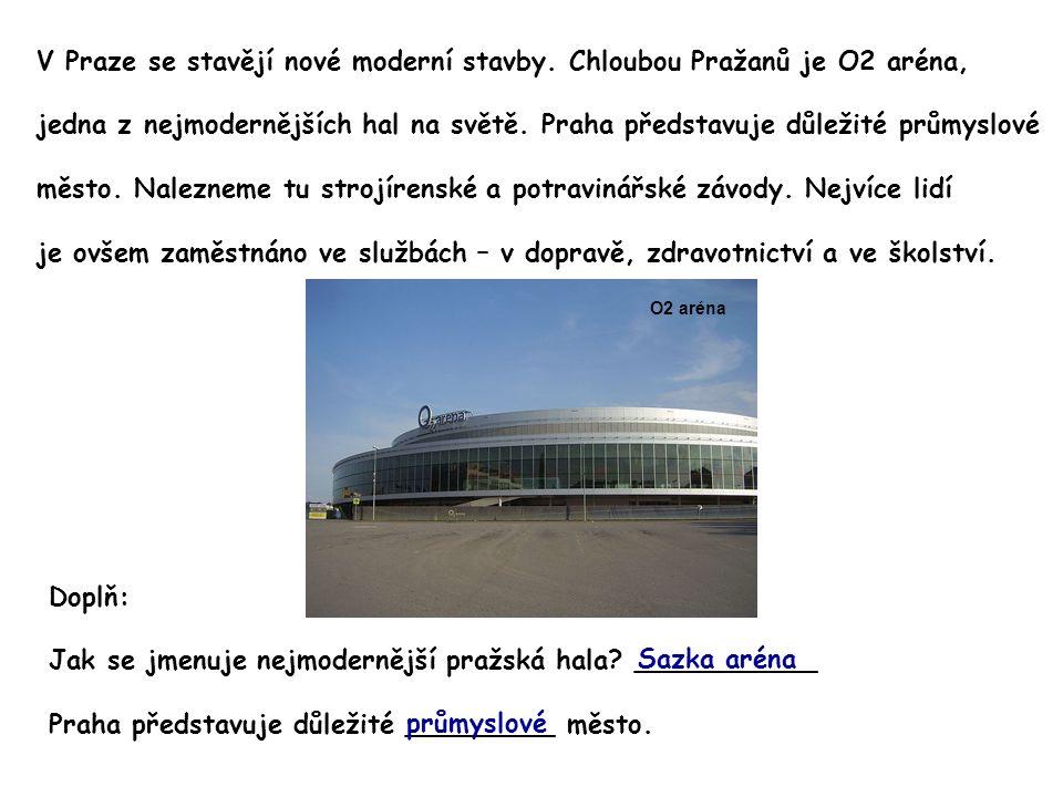 V Praze se stavějí nové moderní stavby.