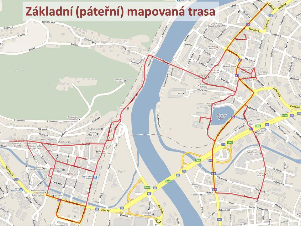 Základní (páteřní) mapovaná trasa