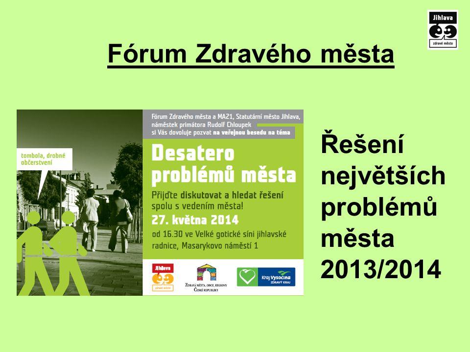 Fórum Zdravého města Řešení největších problémů města 2013/2014