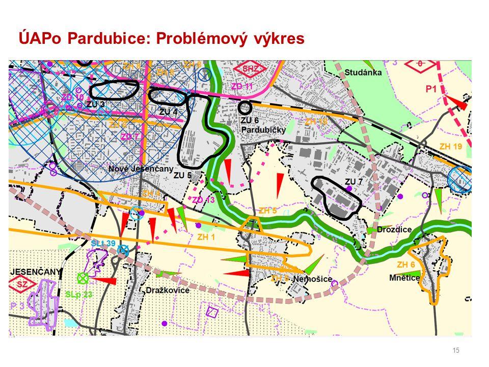 15 ÚAPo Pardubice: Problémový výkres
