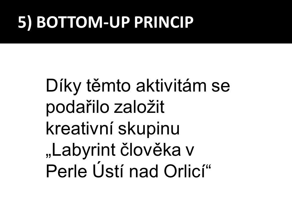 """Díky těmto aktivitám se podařilo založit kreativní skupinu """"Labyrint člověka v Perle Ústí nad Orlicí"""""""