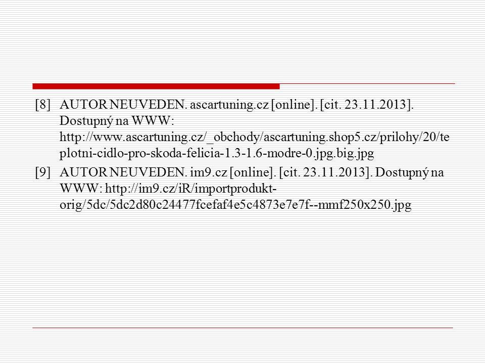 [8] AUTOR NEUVEDEN. ascartuning.cz [online]. [cit.