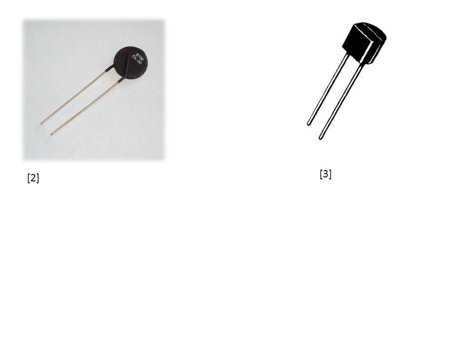 2) Pozistor dvoupólová elektrická součástka Jedná se o typ termistoru s pozitivní teplotní závislostí (tzn.