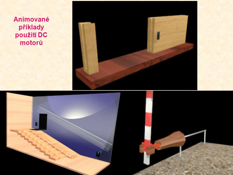 Animované příklady použití DC motorů