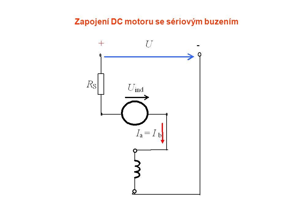 Zapojení DC motoru se sériovým buzením