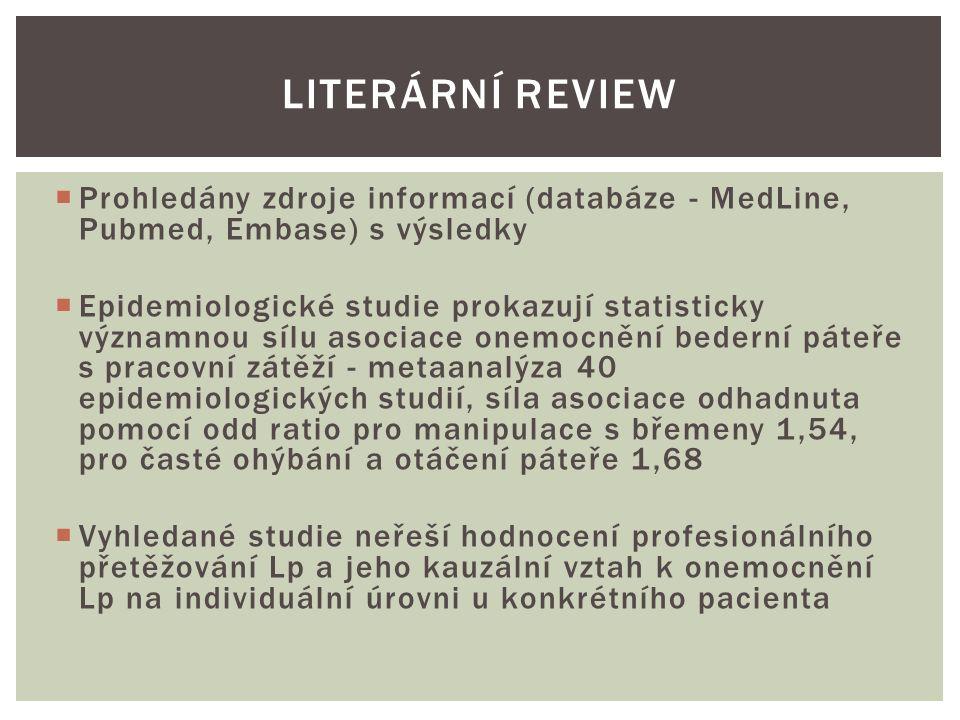 K jednotnému zaznamenání zjištěných klinických parametrů u jednotlivých pacientů byl vytvořen vyšetřovací arch jednak s odpověďmi na dichotomické otázky, jednak s uvedením konkrétních dat.