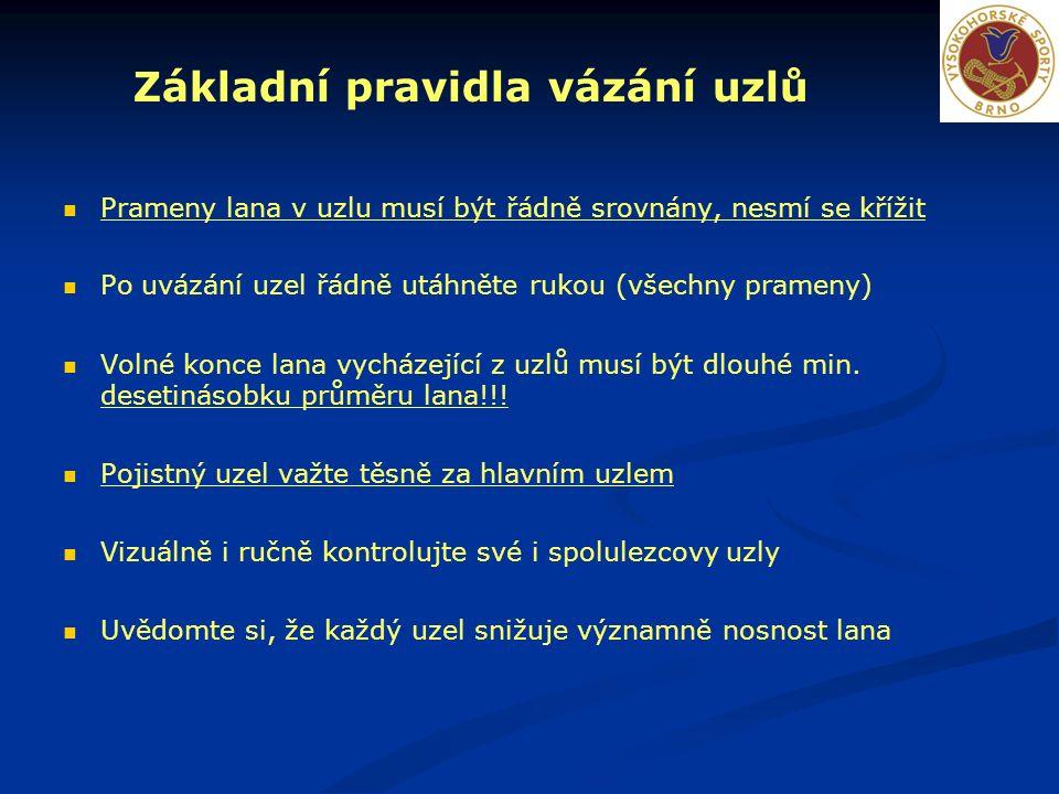 Prusíkovací uzly Prusík Základní prusíkovací uzel.