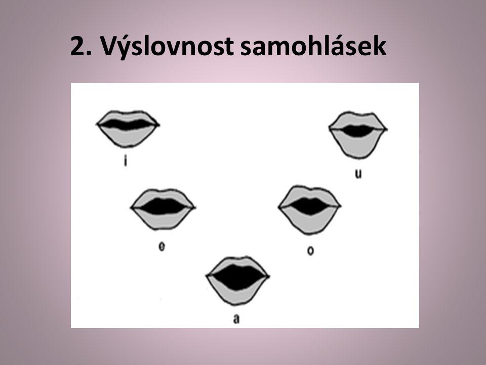 2. Výslovnost samohlásek