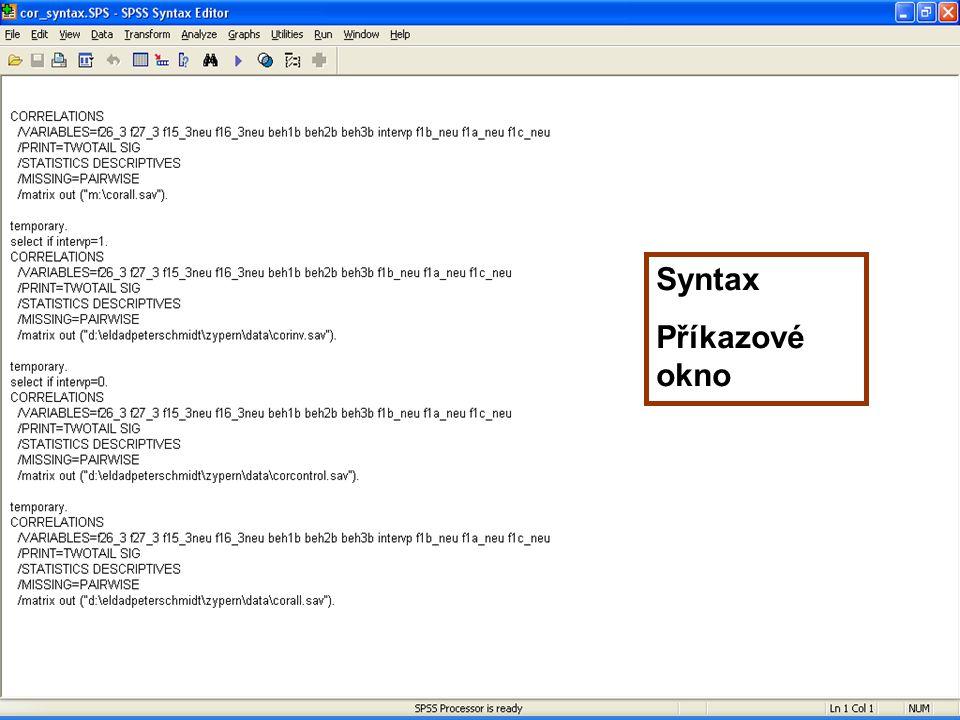 61 Syntax Příkazové okno