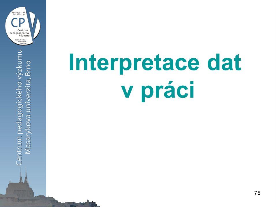 75 Interpretace dat v práci