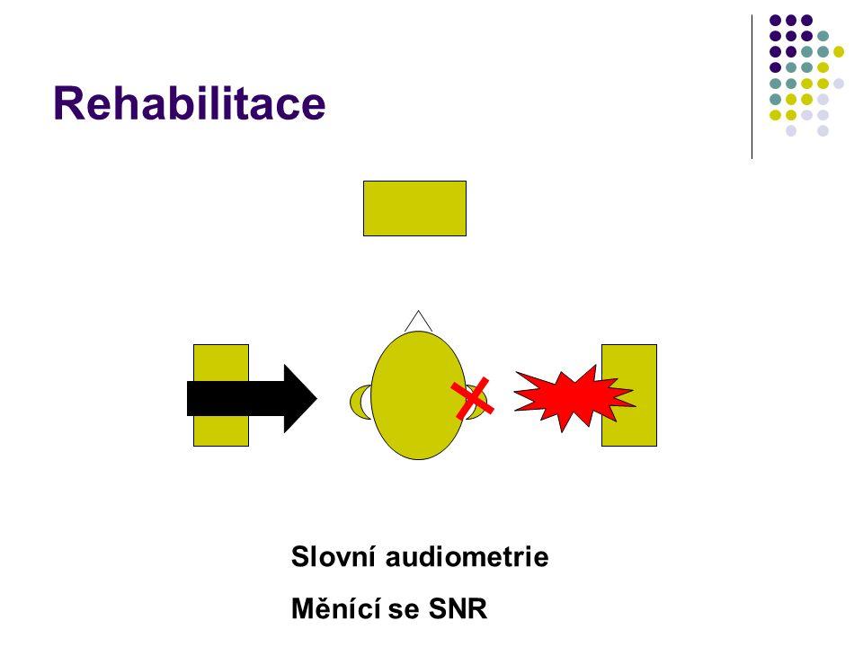 Slovní audiometrie Měnící se SNR