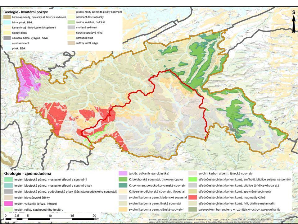 v důsledku důlní činnosti v oblasti Kounov, Mutějovice, Hředle, Kroučová – dochází k odtoku podzemní vody z plochy cca 10 km 2 mimo povodí Rakovnického potoka.