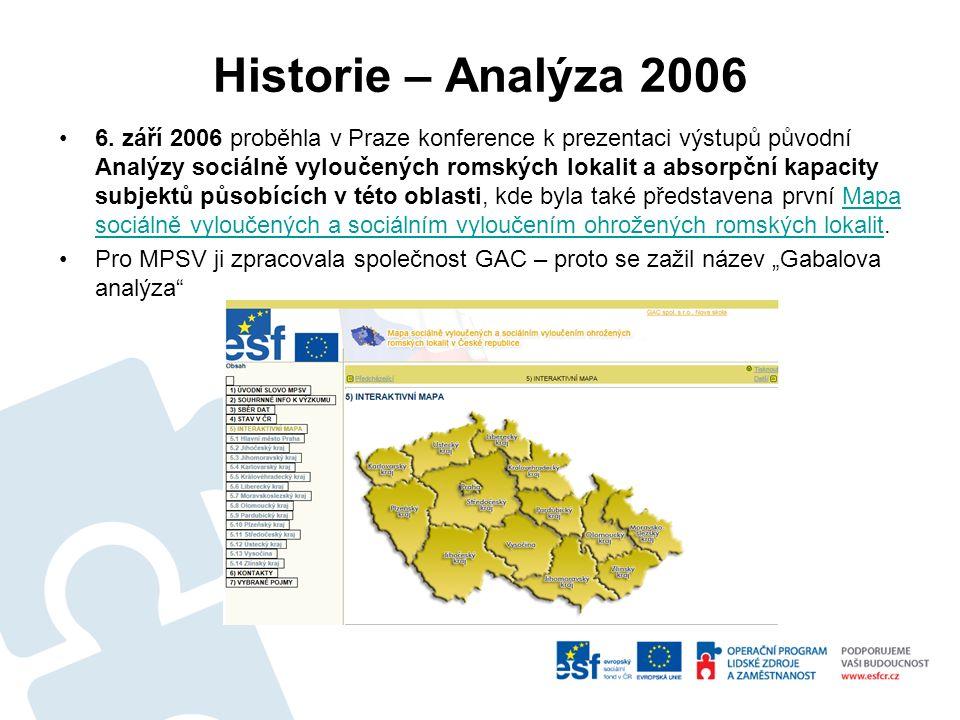 Historie – Analýza 2006 6.