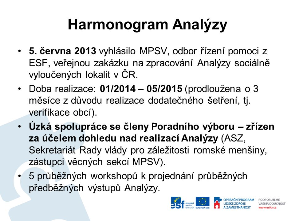 Harmonogram Analýzy 5.