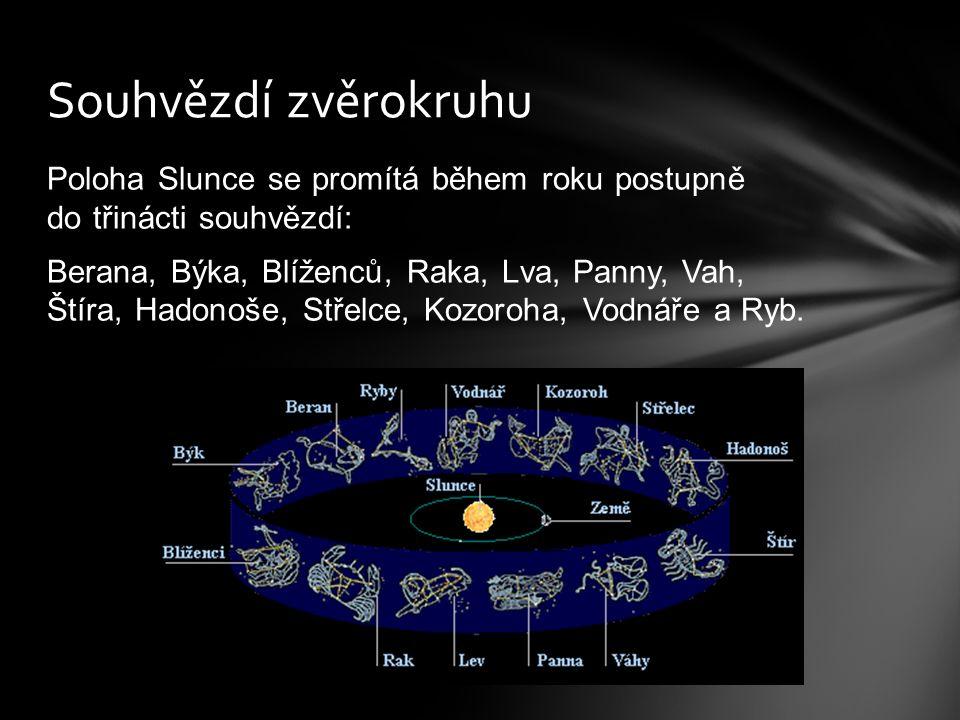 Orientaci na noční obloze provádíme podle souhvězdí.