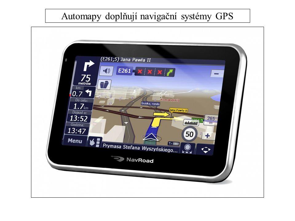 Automapy doplňují navigační systémy GPS