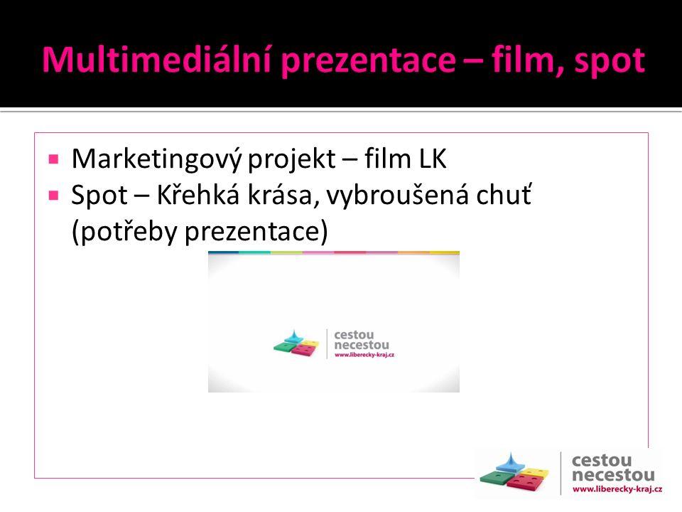  Marketingový projekt – film LK  Spot – Křehká krása, vybroušená chuť (potřeby prezentace)