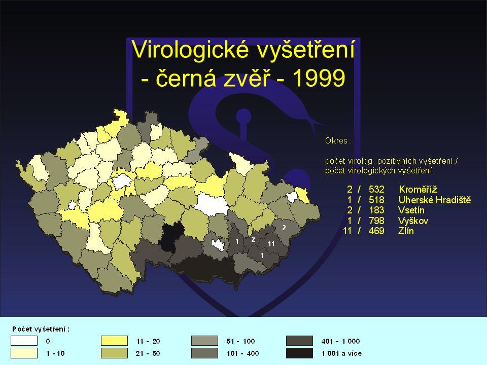 Virologické vyšetření - černá zvěř - 1999
