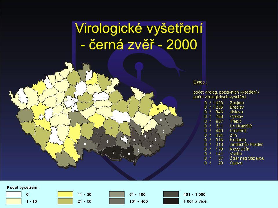 Virologické vyšetření - černá zvěř - 2000