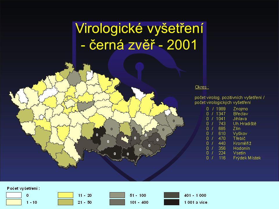 Virologické vyšetření - černá zvěř - 2001