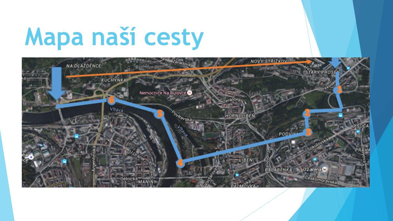 Mapa naší cesty