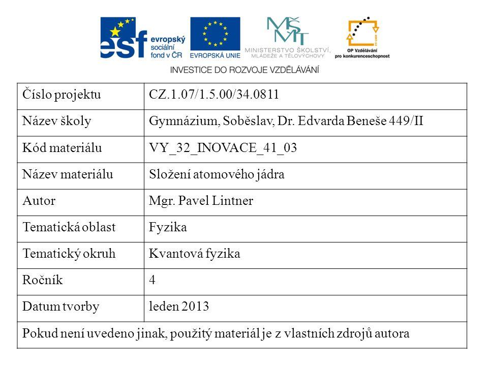 Číslo projektuCZ.1.07/1.5.00/34.0811 Název školyGymnázium, Soběslav, Dr. Edvarda Beneše 449/II Kód materiáluVY_32_INOVACE_41_03 Název materiáluSložení