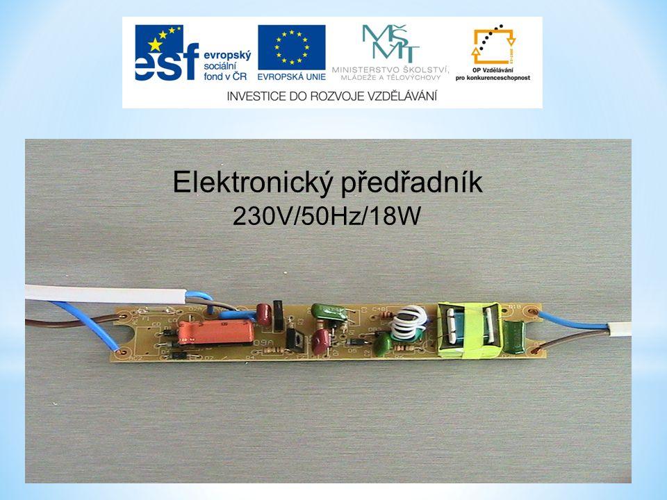 Elektronický předřadník 230V/50Hz/18W