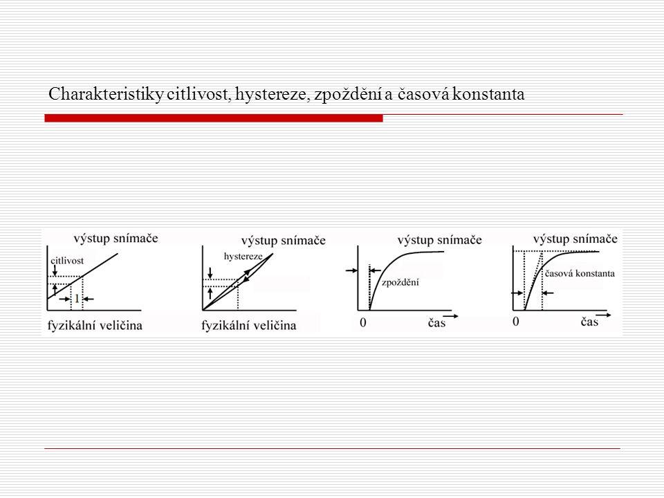 Charakteristiky citlivost, hystereze, zpoždění a časová konstanta