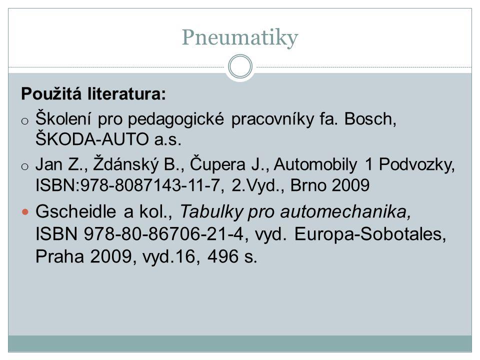Použitá literatura: o Školení pro pedagogické pracovníky fa.