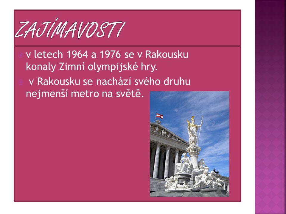  v letech 1964 a 1976 se v Rakousku konaly Zimní olympijské hry.