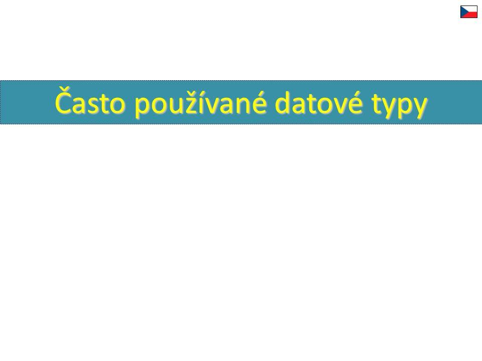 Často používané datové typy