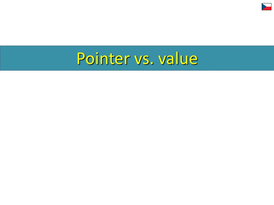 Pointer vs. value