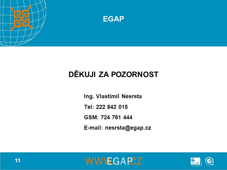 11 EGAP DĚKUJI ZA POZORNOST Ing.