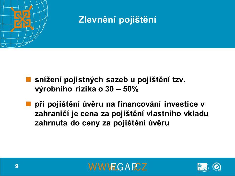9 Zlevnění pojištění snížení pojistných sazeb u pojištění tzv.