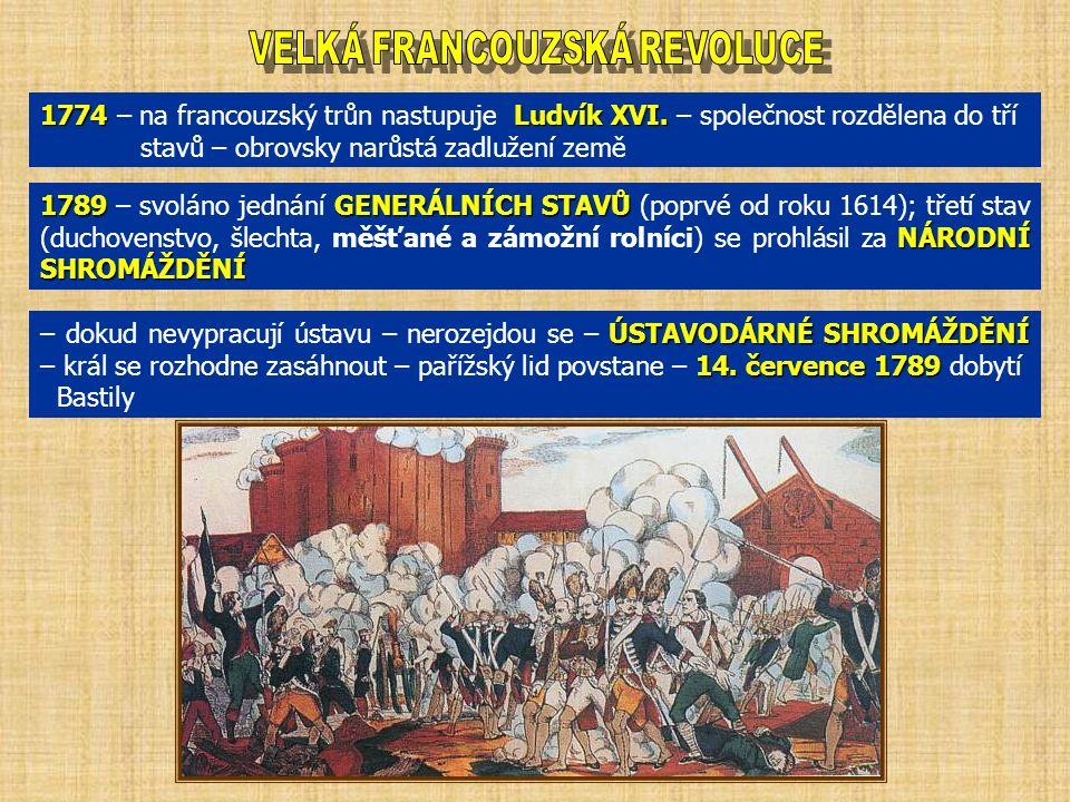 1774Ludvík XVI. 1774 – na francouzský trůn nastupuje Ludvík XVI.