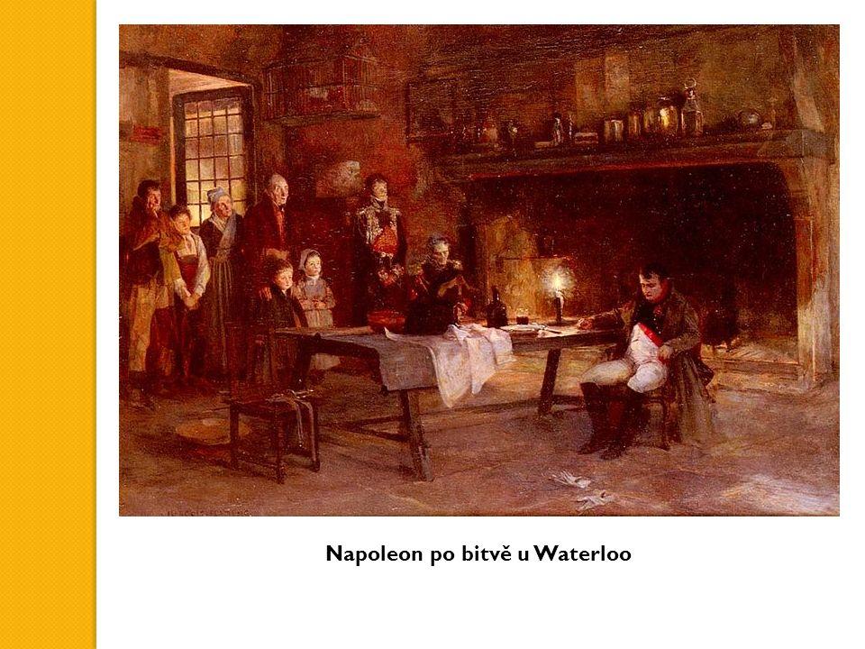 Napoleon po bitvě u Waterloo