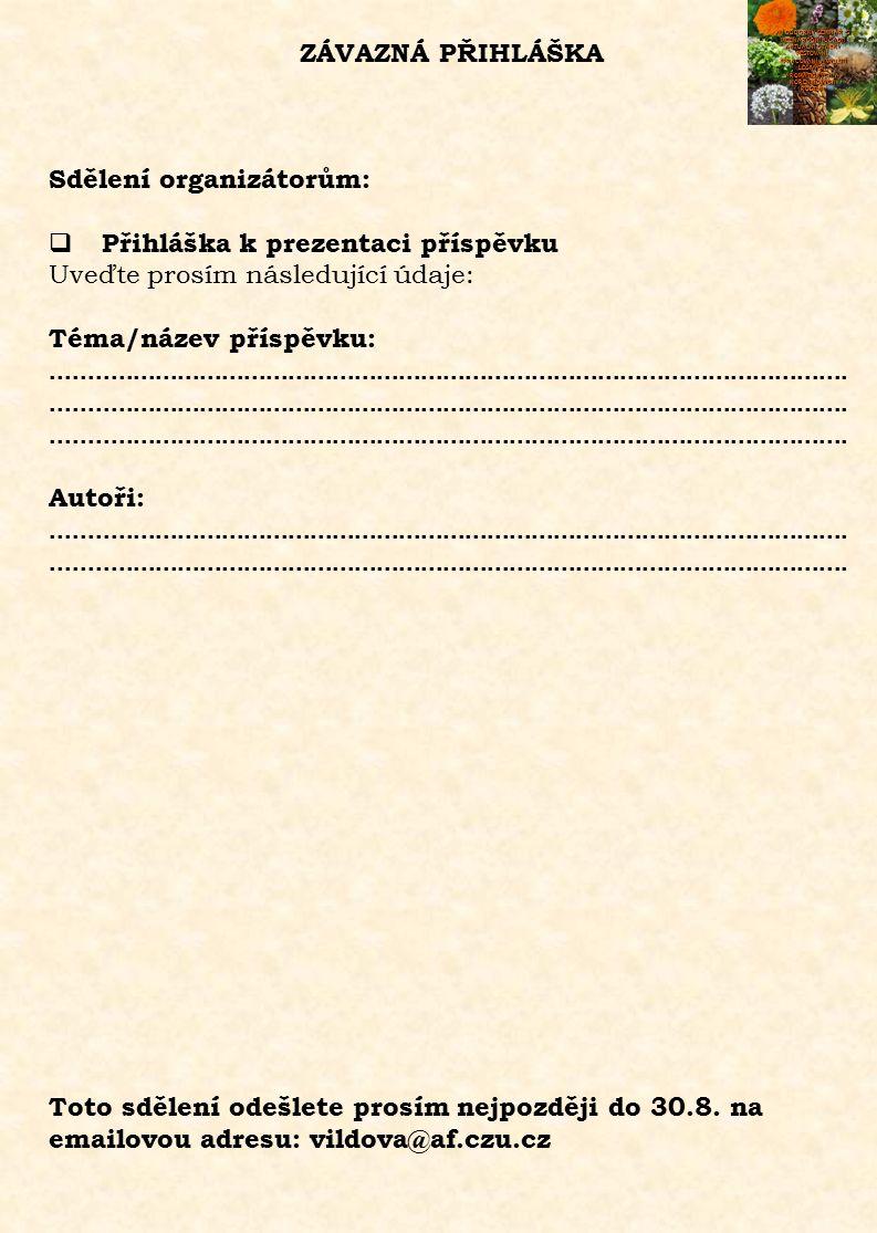 ZÁVAZNÁ PŘIHLÁŠKA XII.