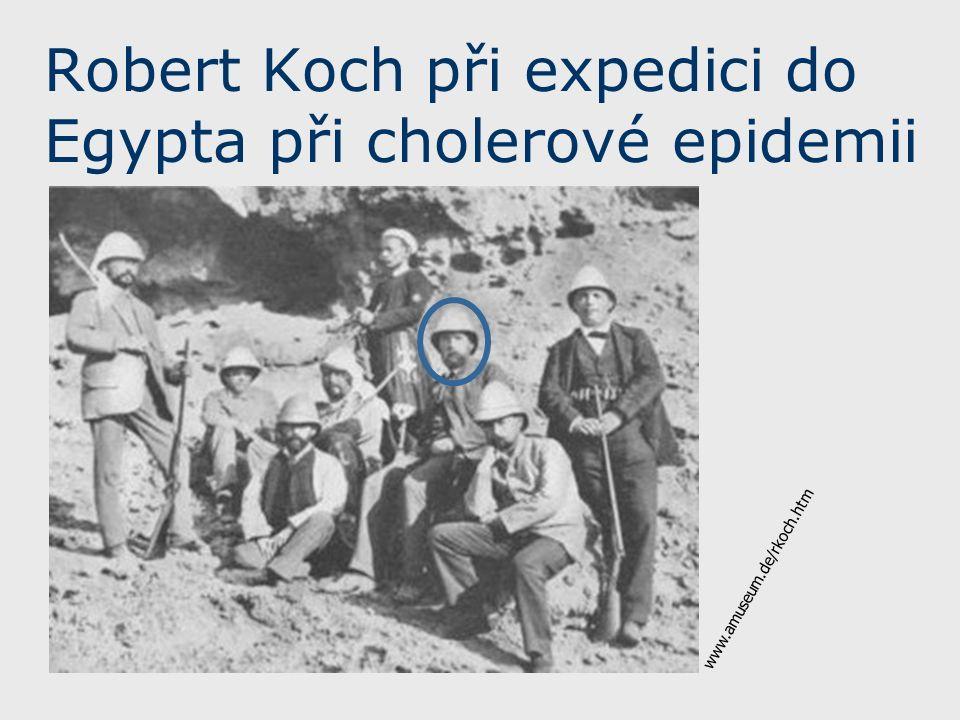 Robert Koch při expedici do Egypta při cholerové epidemii www.amuseum.de/rkoch.htm