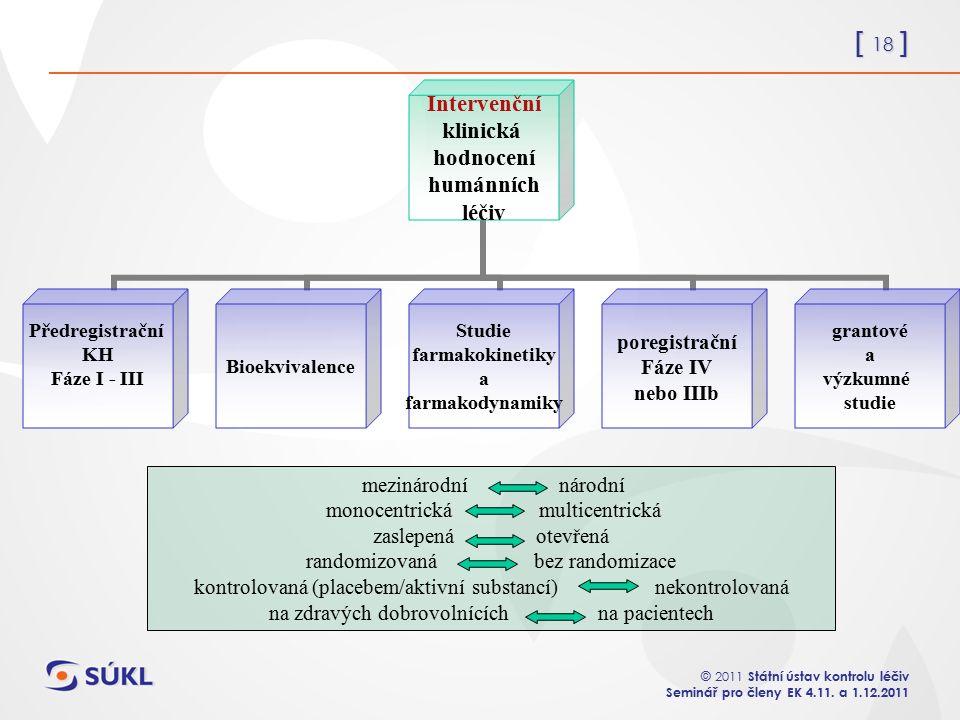 [ 18 ] © 2011 Státní ústav kontrolu léčiv Seminář pro členy EK 4.11.