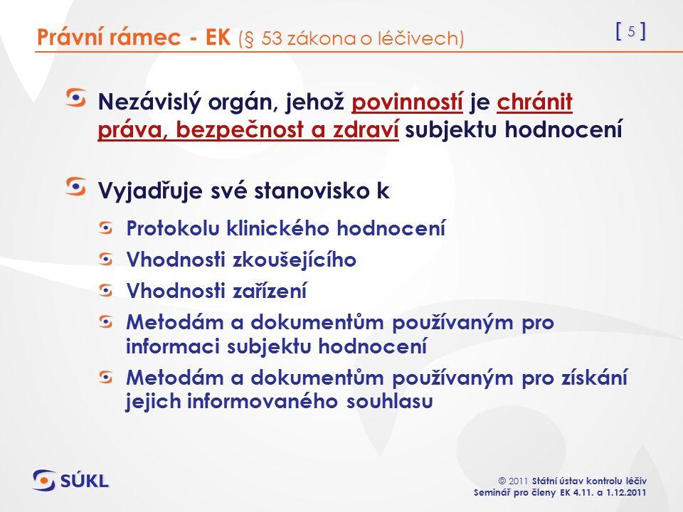 [ 5 ] © 2011 Státní ústav kontrolu léčiv Seminář pro členy EK 4.11.
