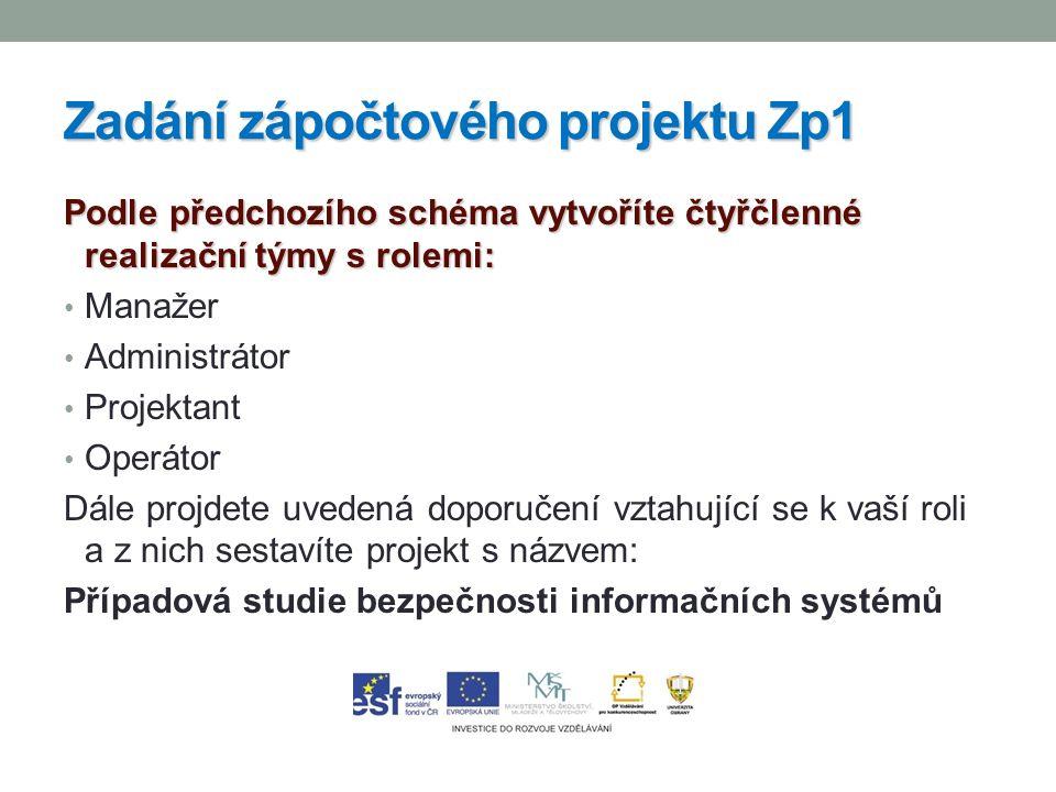 26 Úkoly do samostudia 26 Charakterizovat rozdělení a provázanost rolí ISMS Pracovat na zadání zápočtového projektu Zp1 Prostudovat doporučení pro řízení informační bezpečnosti